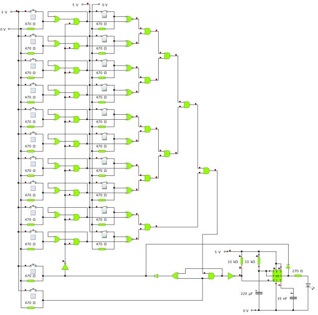 7400 Logic Combination Lock